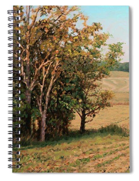 Rolling Farmland - Sunflower Farm Buchanan Virginia Spiral Notebook