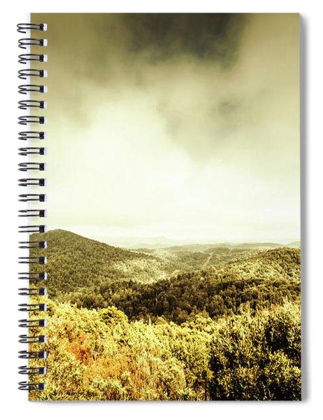 Rolling Hills Of The Tarkine, Tasmania Spiral Notebook