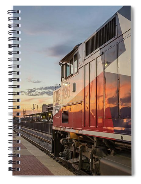 Rolling Into The Sunset Spiral Notebook