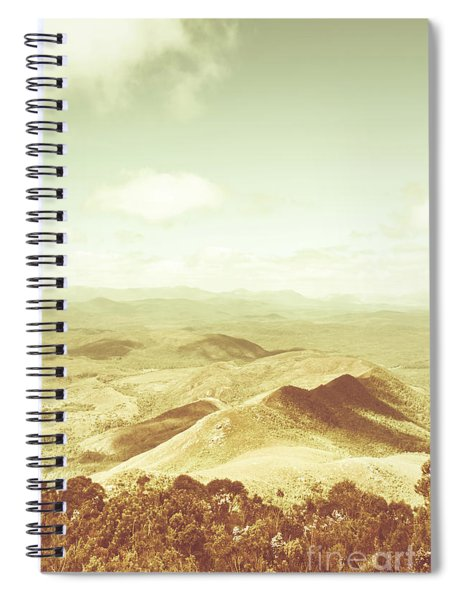 Rolling Rural Hills Of Zeehan Spiral Notebook