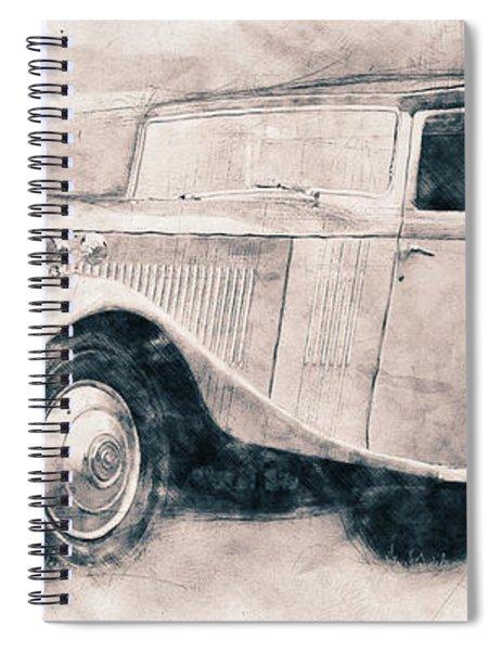 Rolls-royce Phantom - Luxury Car - 1925 - Automotive Art - Car Posters Spiral Notebook
