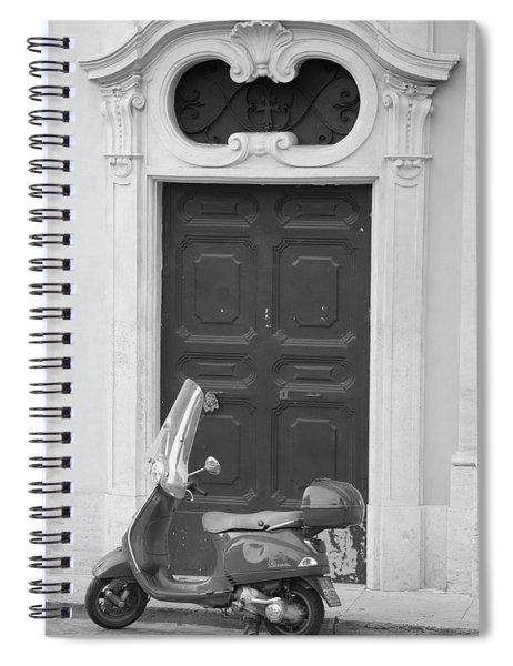 Roma Vespa And Door  Spiral Notebook