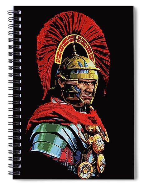 Roman Centurion Portrait Spiral Notebook
