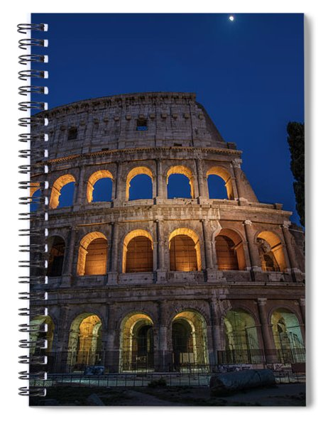 Roman Coliseum In The Evening  Spiral Notebook