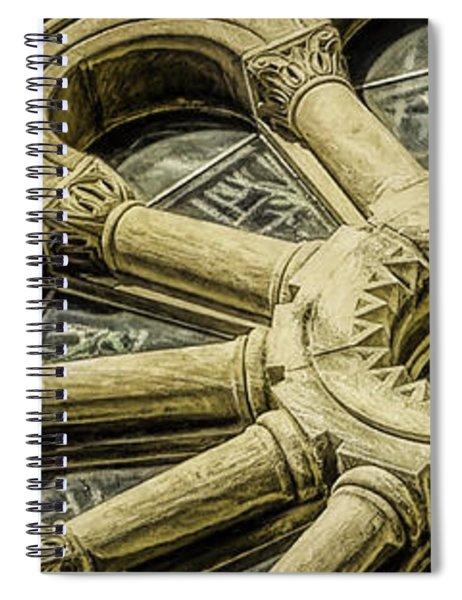 Romanesque Wheel Spiral Notebook