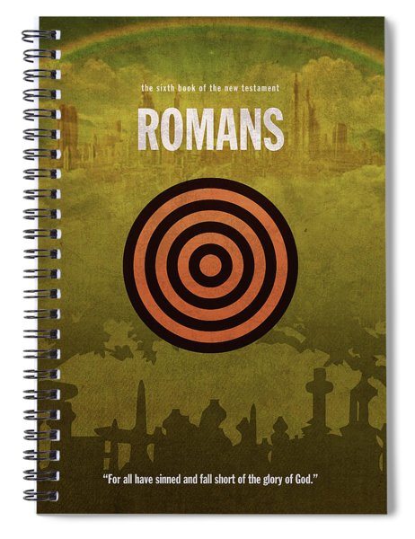 Romans Books Of The Bible Series New Testament Minimal Poster Art Number 06 Spiral Notebook
