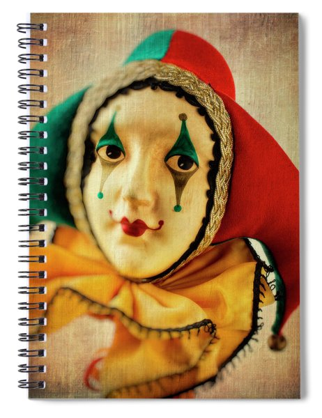 Romantic Jester Spiral Notebook