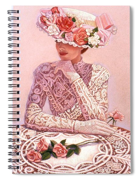 Romantic Lady Spiral Notebook