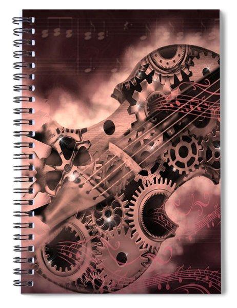 Romantic Stemapunk Violin Music Spiral Notebook