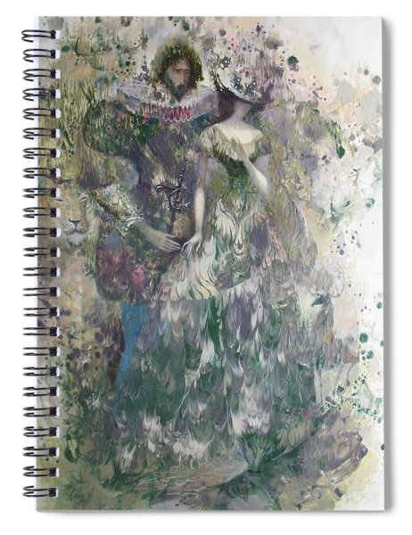 Romeo And Juliet. Monotype Spiral Notebook