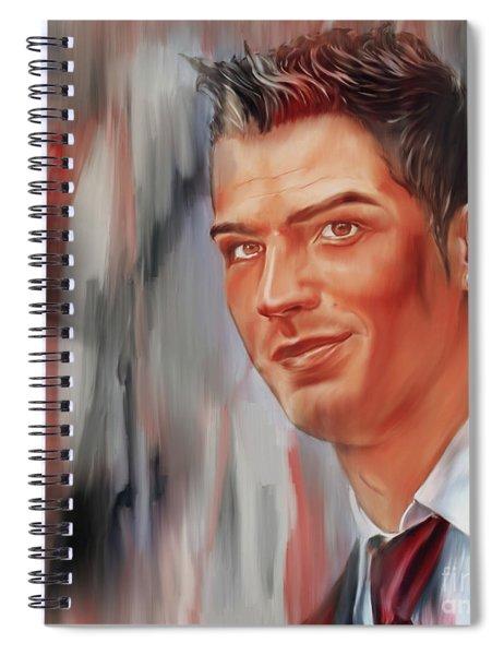 Ronaldo Soccer Player 098iu Spiral Notebook
