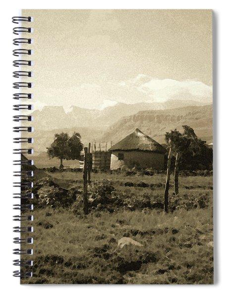 Rondavel In The Drakensburg Spiral Notebook