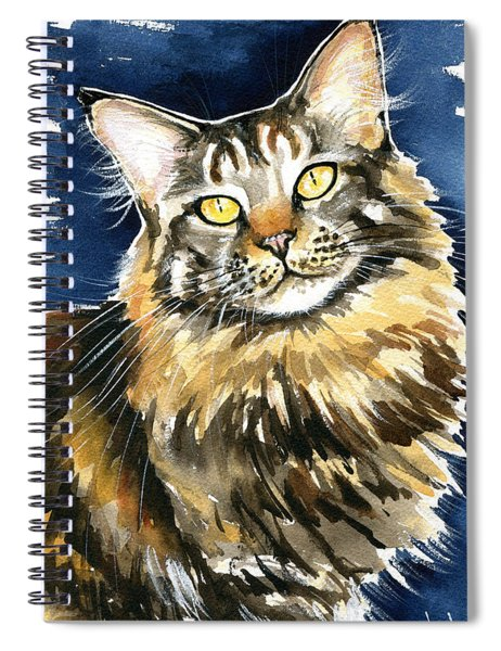 Ronja - Maine Coon Cat Painting Spiral Notebook