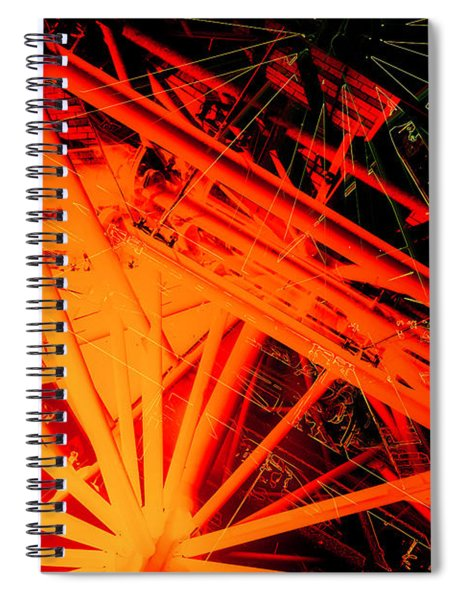 Roof Strut Abstract Spiral Notebook