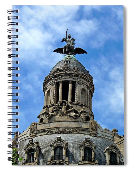 Roof Top Statue Spiral Notebook