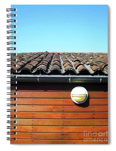 Roofline Ripples Spiral Notebook by Rick Locke