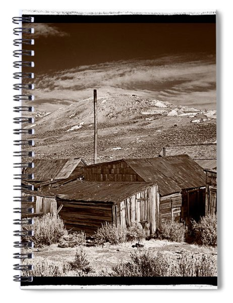 Rooflines Bodie Ghost Town Spiral Notebook
