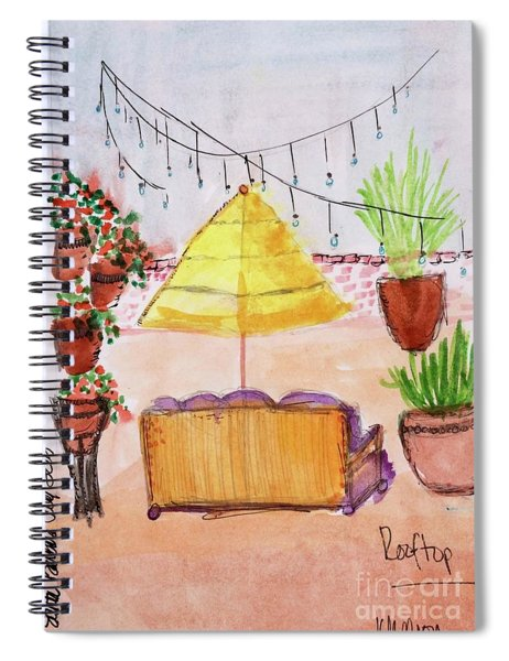 Rooftop At The Canary Spiral Notebook