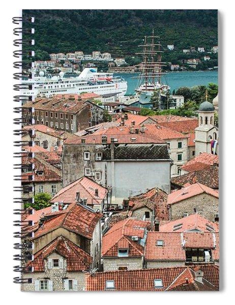 Rooftops Of Kotor  Spiral Notebook