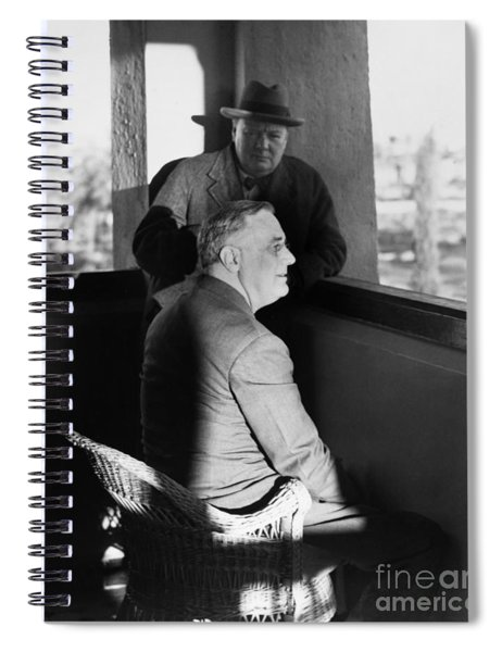 Roosevelt And Churchill Spiral Notebook