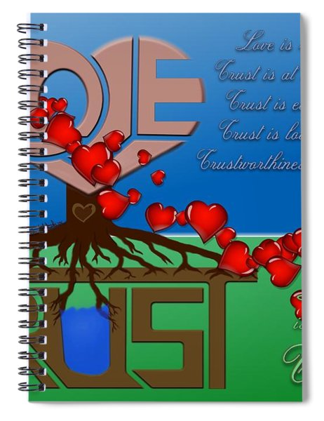 Rooted In Trust Spiral Notebook
