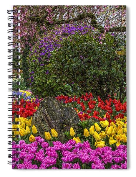 Roozengaarde Flower Garden Spiral Notebook