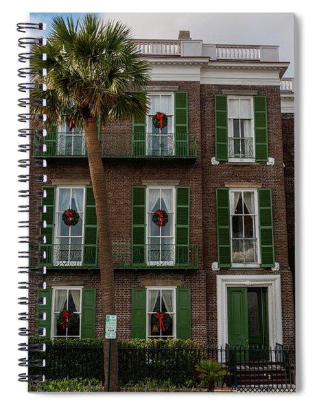 Roper Mansion In December Spiral Notebook