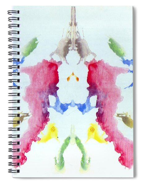 Rorschach Test Card No. 10 Spiral Notebook
