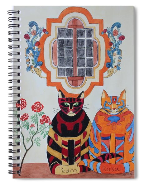 Rosa And Pedro Of The Rose Window Of Mission San Jose Spiral Notebook