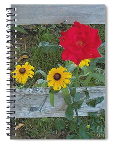 Rose And Black Eye Susan Spiral Notebook