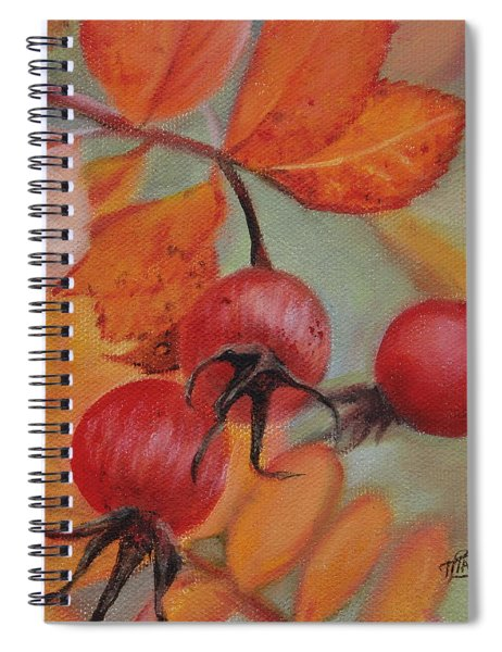 Rose Hips Spiral Notebook