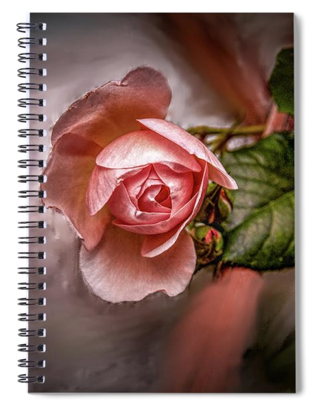 Rose On Paint #g5 Spiral Notebook