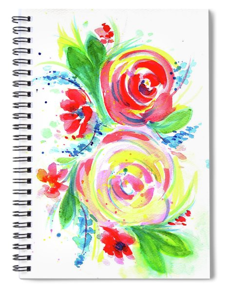 Rose Red Rose Yellow  Spiral Notebook