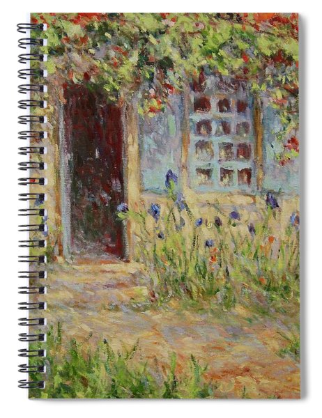 Rose Trees At The Front Of The House Spiral Notebook