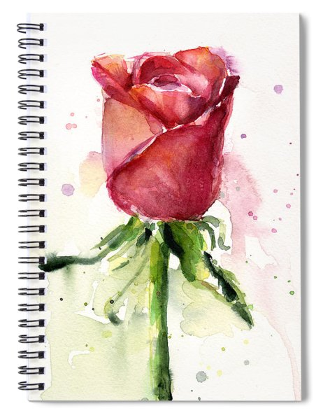 Rose Watercolor Spiral Notebook