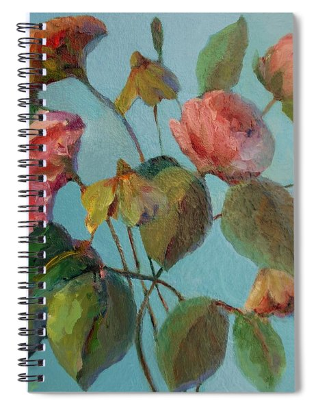 Roses And Wildflowers Spiral Notebook