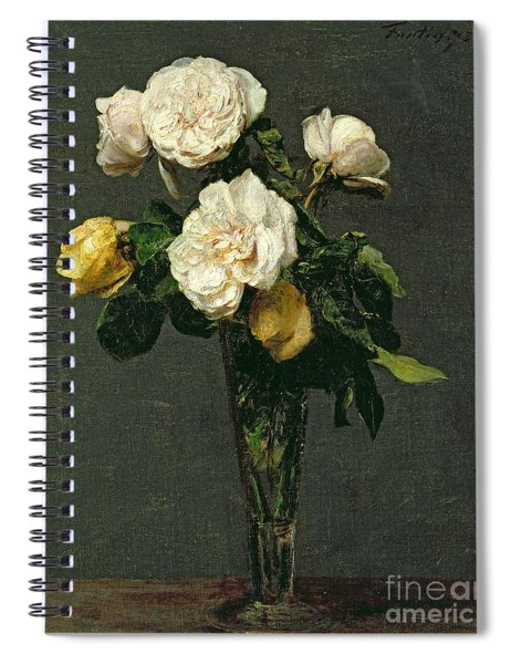 Roses In A Champagne Flute Spiral Notebook