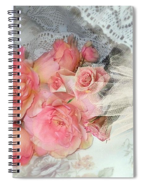 Roses On My Pillow Spiral Notebook