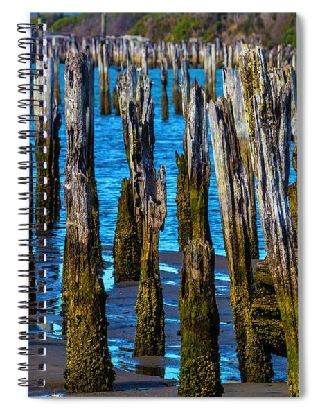 Rottening Pier Posts Spiral Notebook