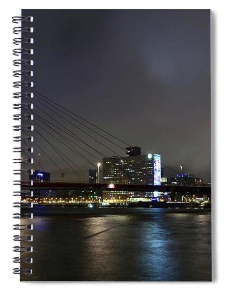 Rotterdam - Willemsbrug At Night Spiral Notebook