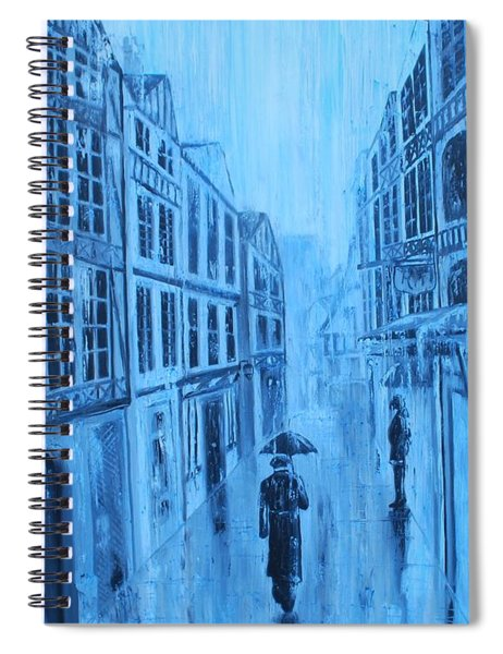 Rouen In The Rain Spiral Notebook