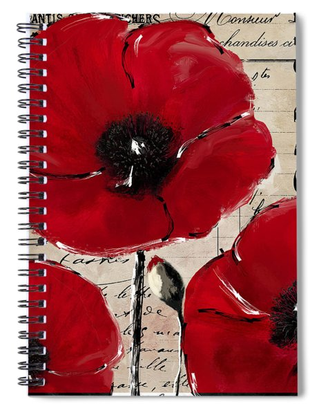 Rouge I Poppy Spiral Notebook