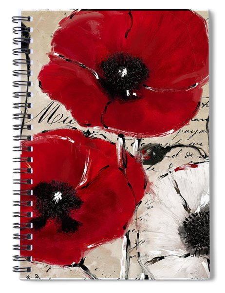 Rouge II Poppies Spiral Notebook