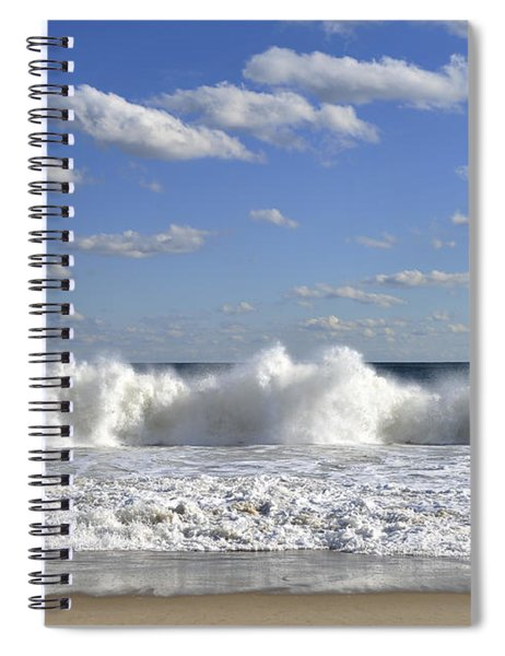 Rough Surf Jersey Shore  Spiral Notebook