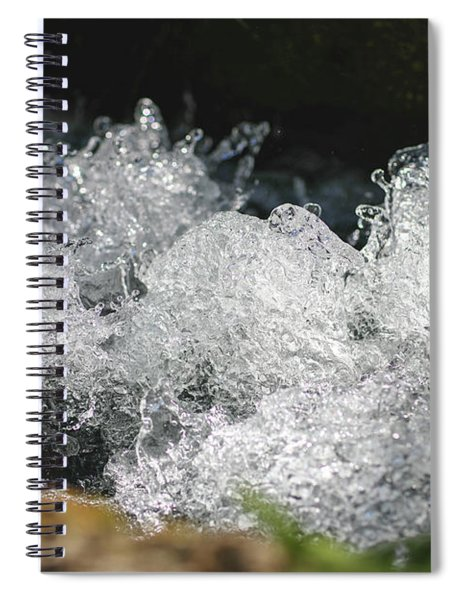 Rough Water Splash Spiral Notebook