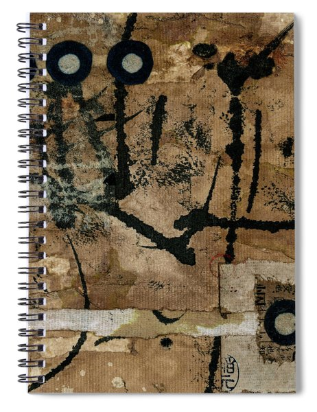 Rounding Square Collage Spiral Notebook