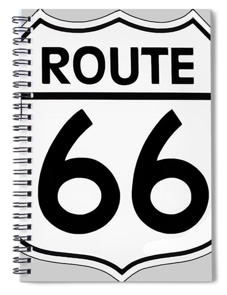Route 66 Sign Spiral Notebook
