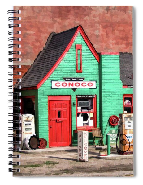 Route 66 Conoco Station Oklahoma Spiral Notebook