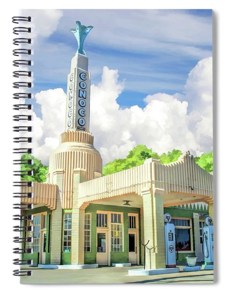 Route 66 Conoco Tower Station Spiral Notebook