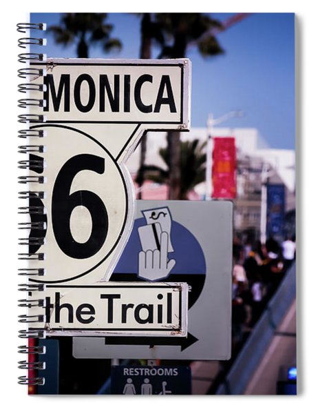 Route 66 End Of Trail Spiral Notebook